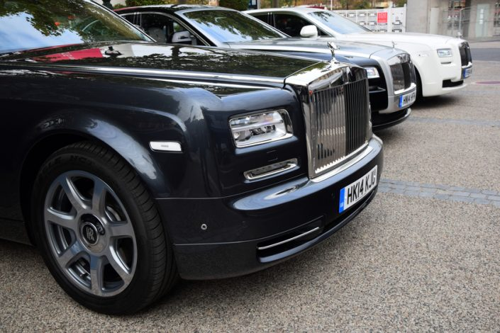 Rolls-Royce in a row