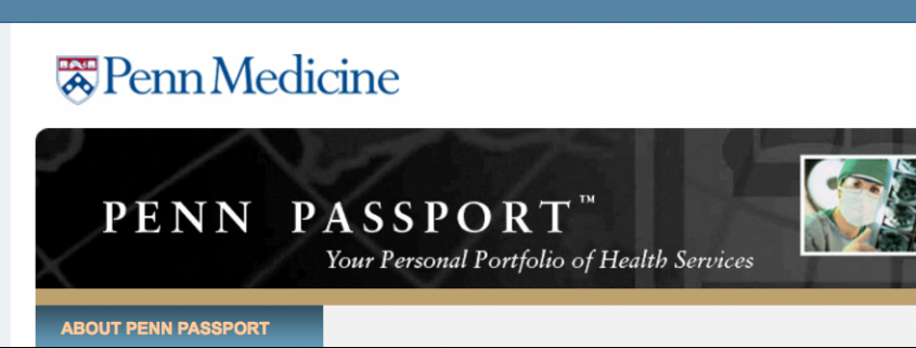 Penn Medicine Website Header