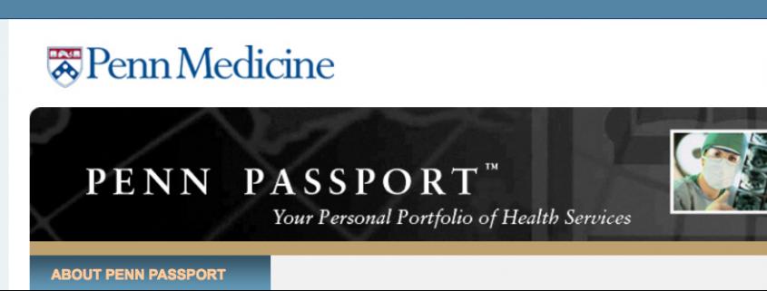 Penn Medicine Website Header