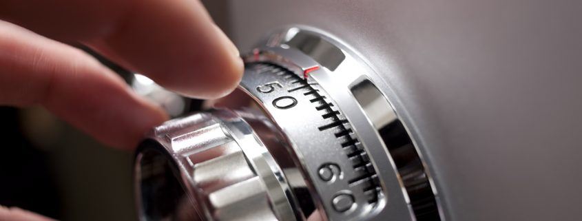Dialing in the combination to a safe